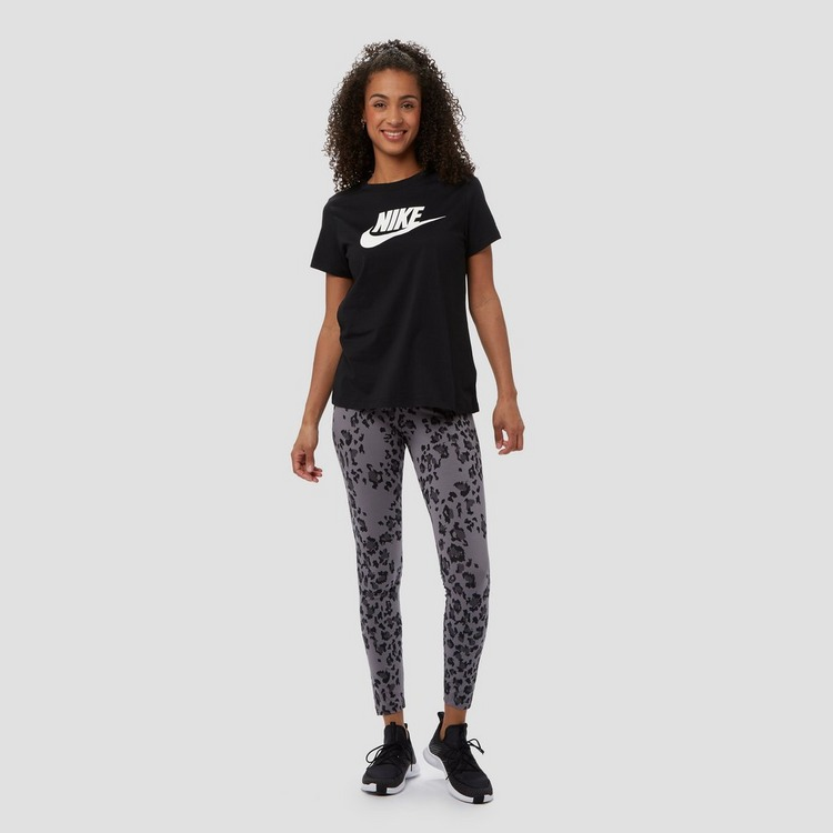 NIKE SPORTSWEAR ESSENTIALS ICON FUTURE SHIRT ZWART/WIT DAMES