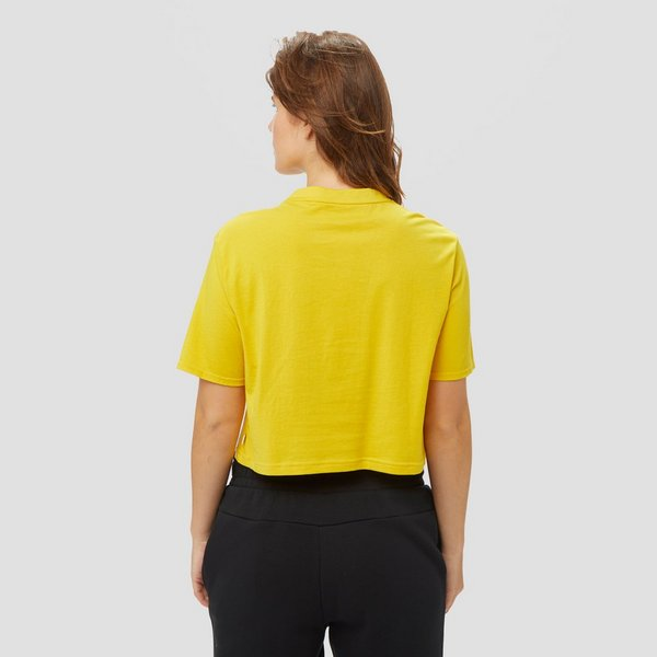 PUMA AMPLIFIED CROPPED SHIRT GEEL DAMES