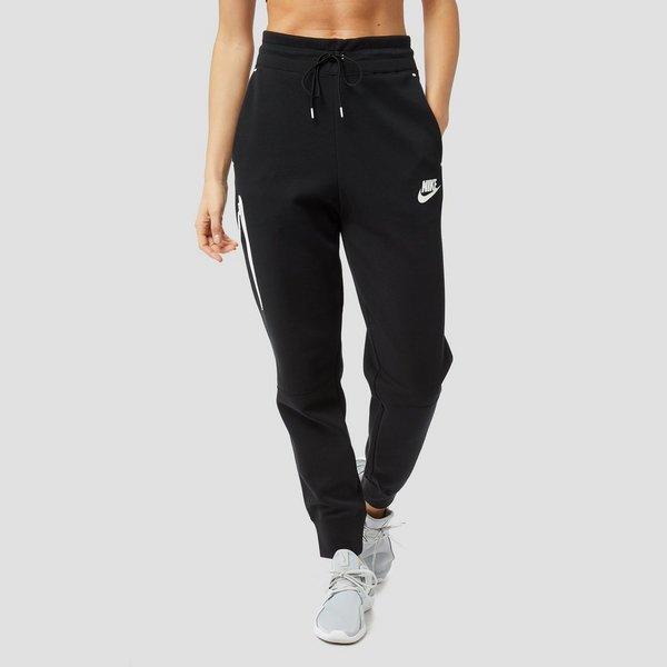 nike sportswear tech fleece joggingbroek zwart/wit dames | perrysport