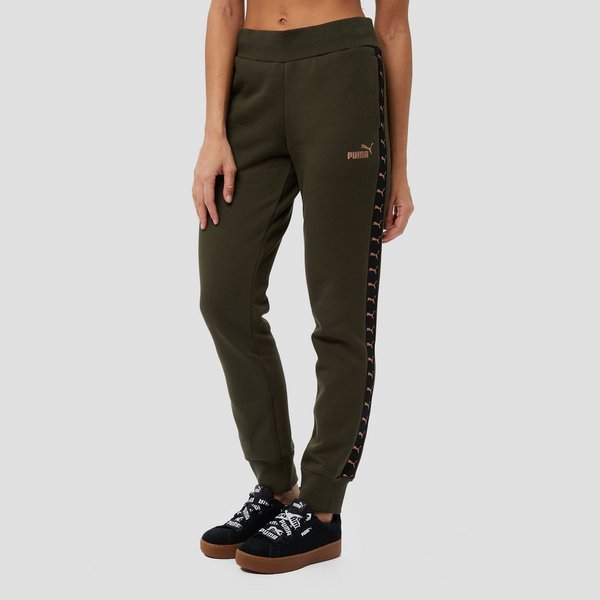 Joggingbroek Groen.Puma Taped Joggingbroek Groen Dames Perrysport