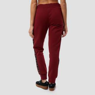 PUMA TAPED JOGGINGBROEK ROOD DAMES