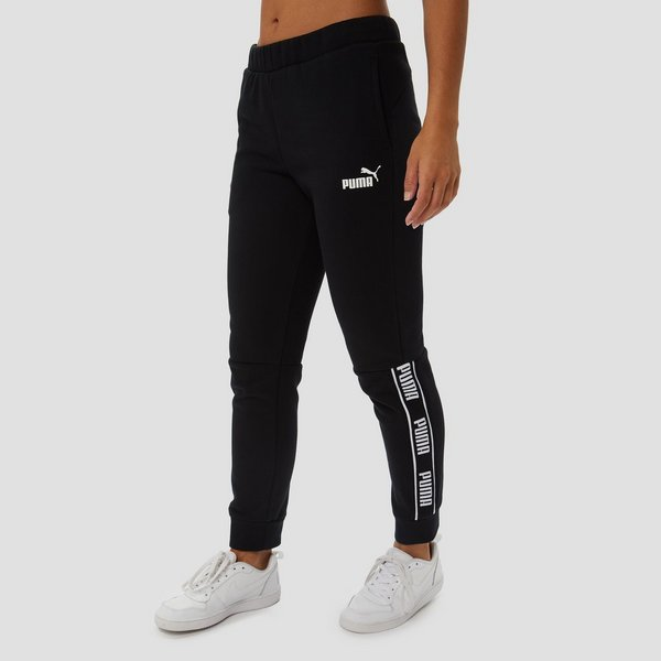 PUMA AMPLIFIED FLEECE JOGGINGBROEK ZWART DAMES