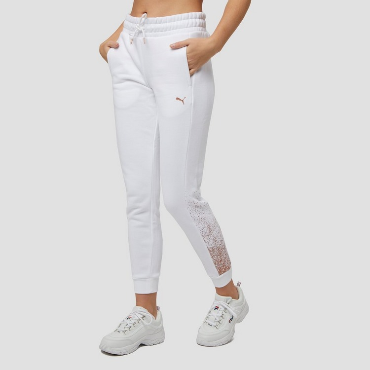 PUMA HOLIDAY JOGGINGBROEK WIT DAMES
