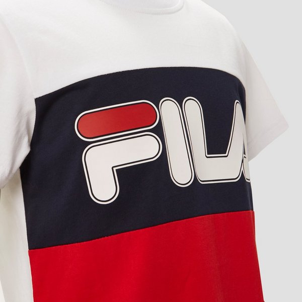 FILA OLLA COLORBLOCK SHIRT WIT/ROOD KINDEREN