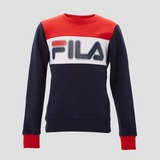 FILA CONELLO SWEATER BLAUW/ROOD KINDEREN