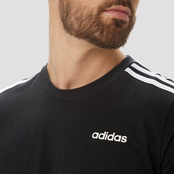 ADIDAS ESSENTIALS 3-STRIPES SHIRT ZWART HEREN