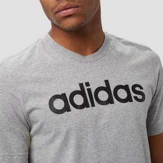 ADIDAS ESSENTIALS LINEAR SHIRT GRIJZE HEREN