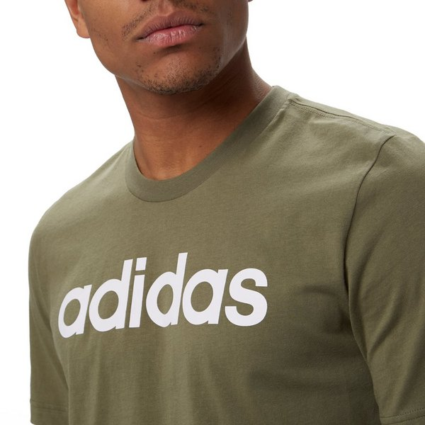 ADIDAS ESSENTIALS LINEAR SHIRT GROEN HEREN