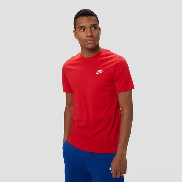 NIKE SPORTSWEAR CLUB SHIRT ROOD HEREN