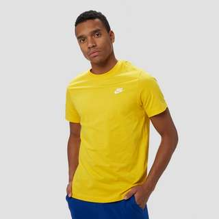 NIKE SPORTSWEAR CLUB SHIRT GEEL HEREN