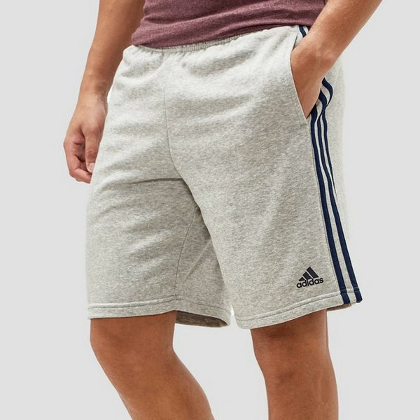 Korte Broek Heren C En A.Adidas Essential 3 Stripes Short Grijs Heren Perrysport