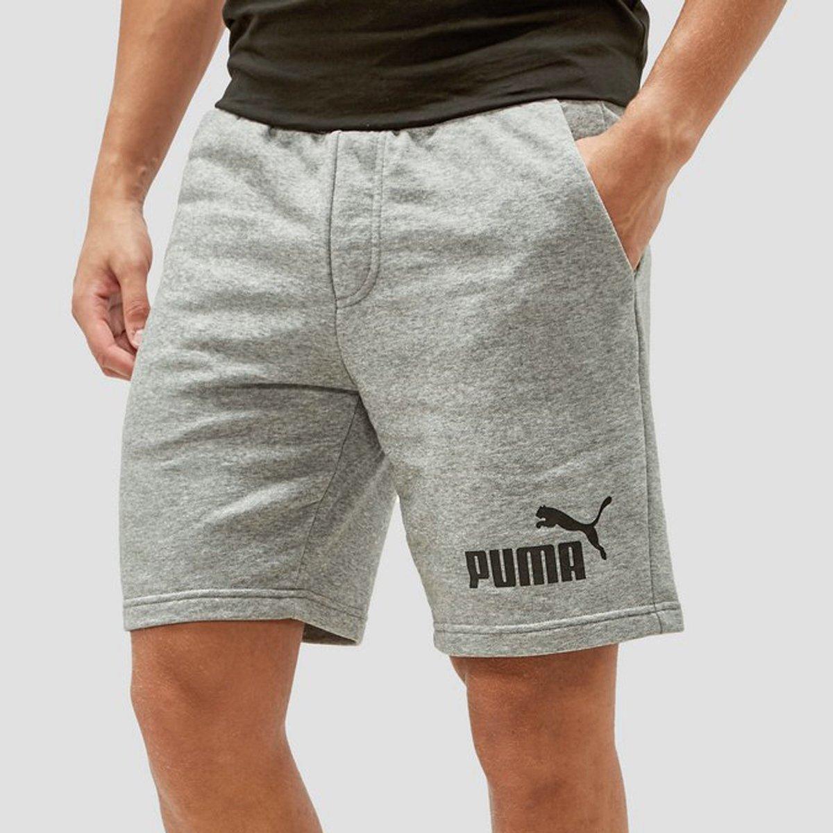 Sport Korte Broek Heren.Puma No 1 Logo Sweatshort Grijs Heren Perrysport