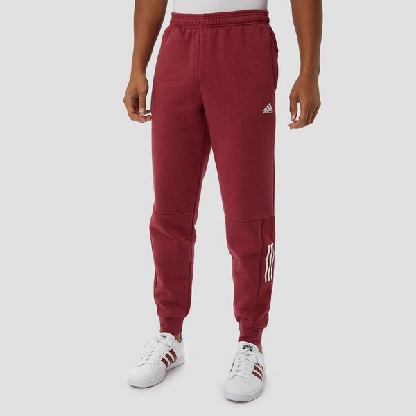 Rode Joggingbroek Heren.Adidas Sid Logo Fleece Joggingbroek Rood Heren Perrysport
