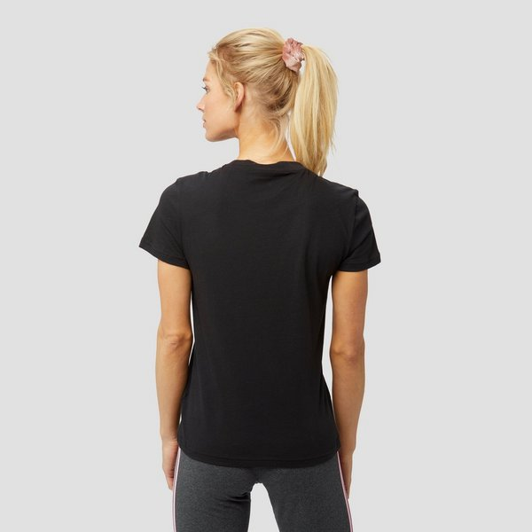 ADIDAS ESSENTIALS LINEAR SLIM SHIRT ZWART DAMES