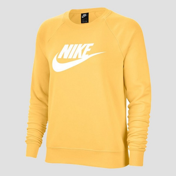 NIKE ESSENTIAL CREW FLEECE SWEATER GEEL DAMES