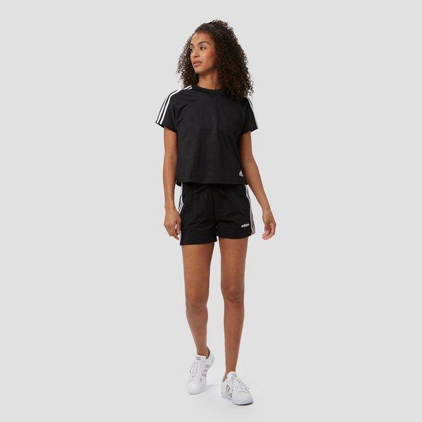 Korte Broek Zwart Dames.Adidas Essentials 3 Stripes Korte Broek Zwart Dames Perrysport