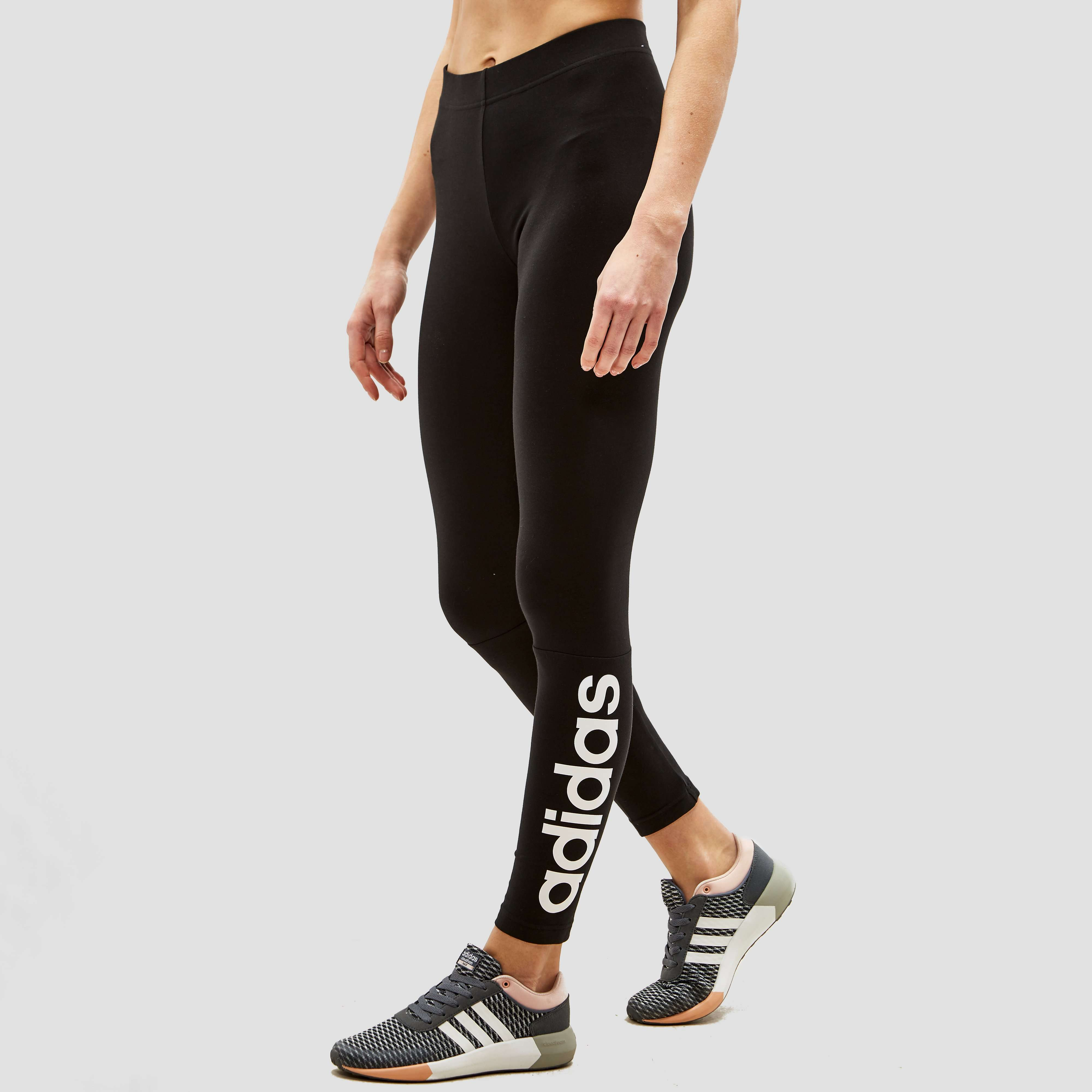 ADIDAS ESSENTIAL LINEAR TIGHT ZWART DAMES