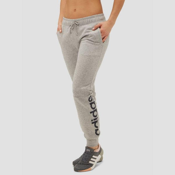 adidas essentials linear joggingbroek grijs dames | perrysport