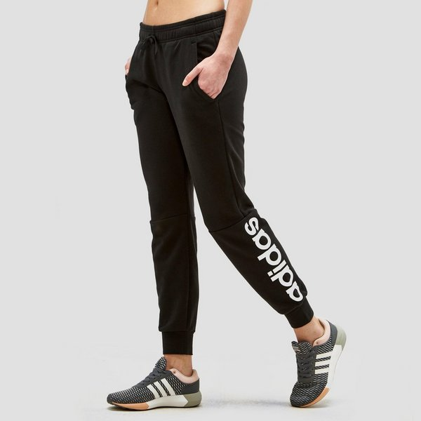adidas essentials linear joggingbroek zwart dames | perrysport