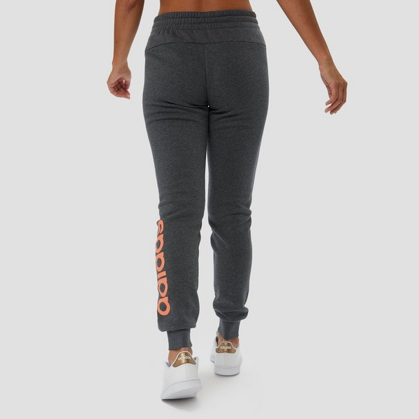 ADIDAS ESSENTIALS LINEAR FLEECE JOGGINGBROEK GRIJS/ORANJE ...