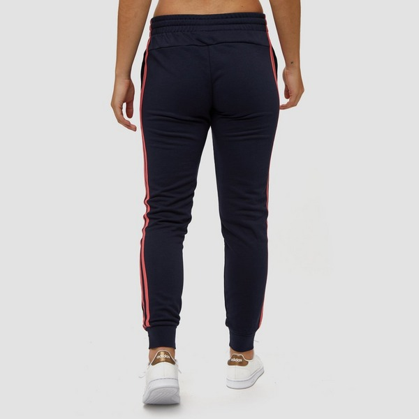 ADIDAS ESSENTIALS 3-STRIPES JOGGINGBROEK BLAUW/ROZE DAMES