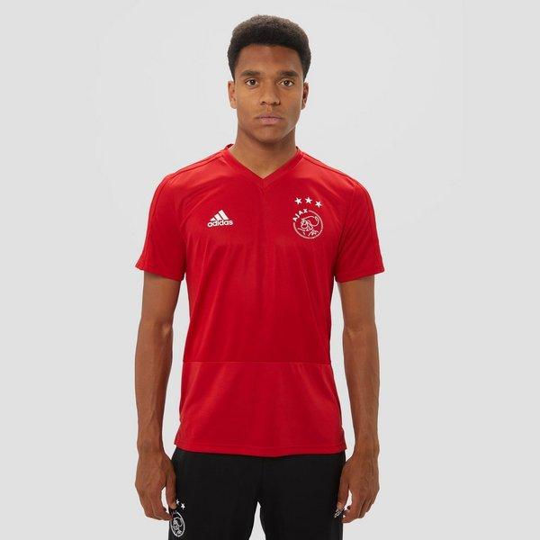 Kersttrui Ajax.Adidas Ajax Trainingsshirt 18 19 Rood Heren Perrysport