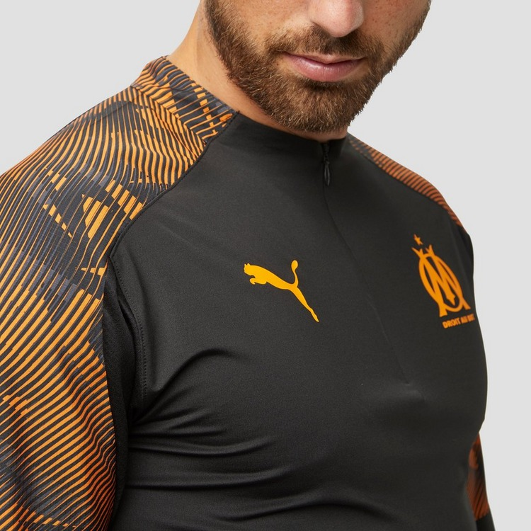 PUMA OLYMPIQUE MARSEILLE TRAININGSTOP KORTE RITS 19/20 ZWART/ORANJE HEREN