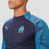 PUMA OLYMPIQUE MARSEILLE TRAININGSTOP KORTE RITS 19/20 BLAUW HEREN