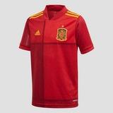 ADIDAS UEFA EURO 2020/2021 FEF SPANJE THUISSHIRT 20/22 ROOD KINDEREN