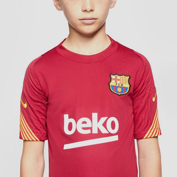 NIKE FC BARCELONA BREATHE STRIKE TRAININGSSHIRT 20/21 BORDEAUX KINDEREN