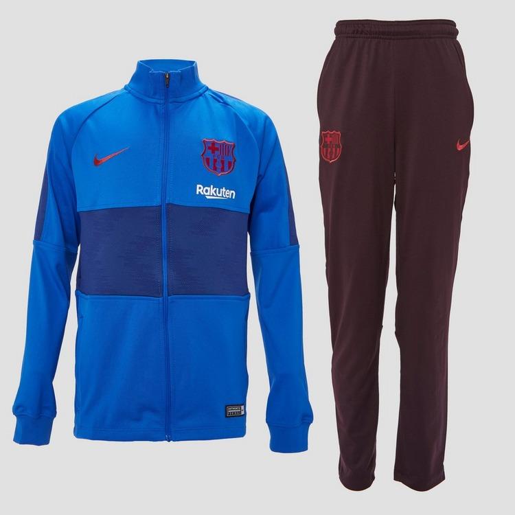NIKE FC BARCELONA DRI-FIT STRIKE TRAININGSPAK 19/20 BLAUW/PAARS KINDEREN