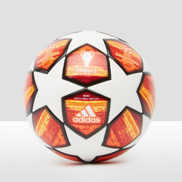 ADIDAS UEFA CHAMPIONS LEAGUE FINALE 19 MADRID MINI VOETBAL ROOD/WIT