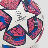 ADIDAS UEFA CHAMPIONS LEAGUE FINALE ISTANBUL 2020 MINI VOETBAL WIT/BLAUW/PAARS