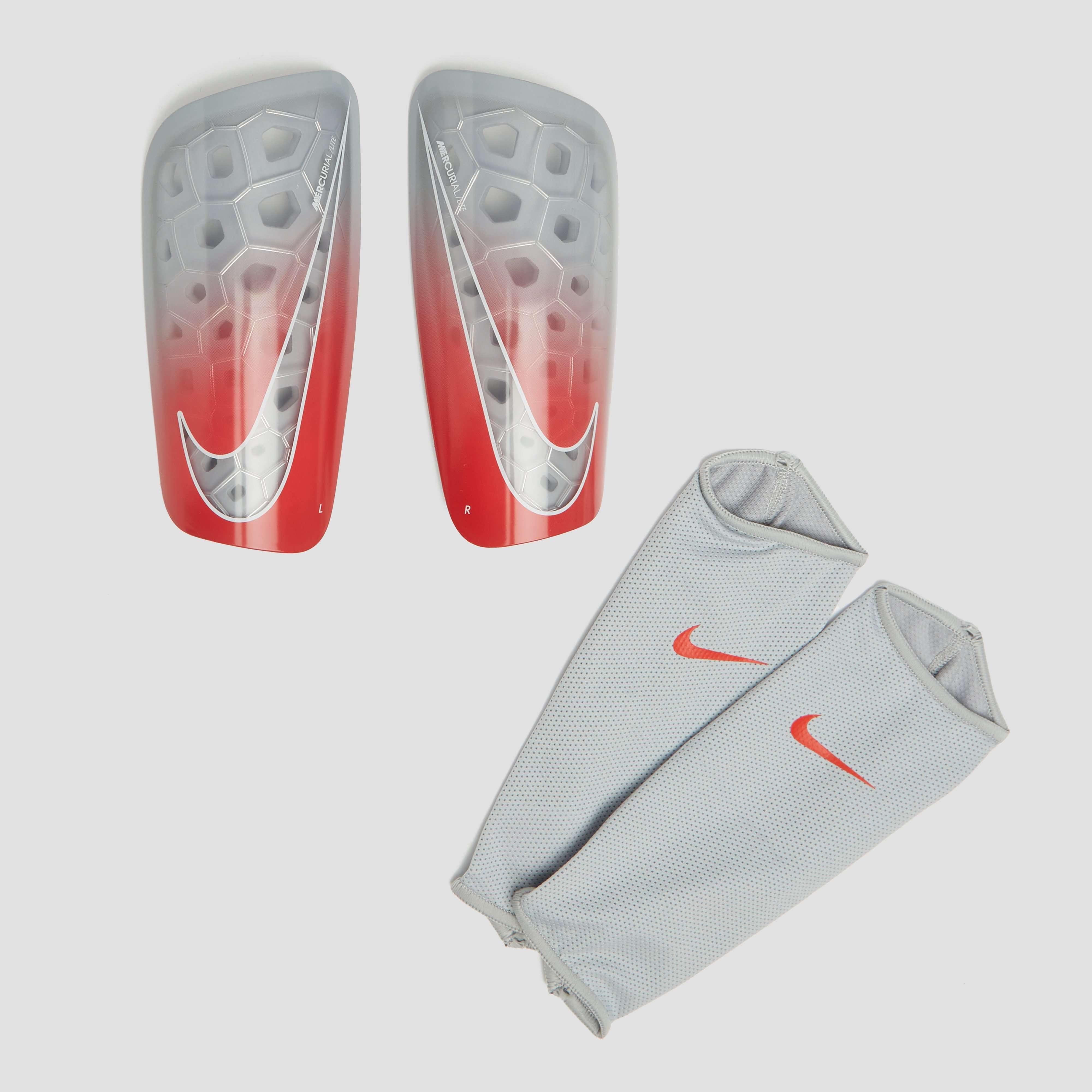 Nike MERCURIAL LITE SCHEENBESCHERMERS GRIJS/ROOD