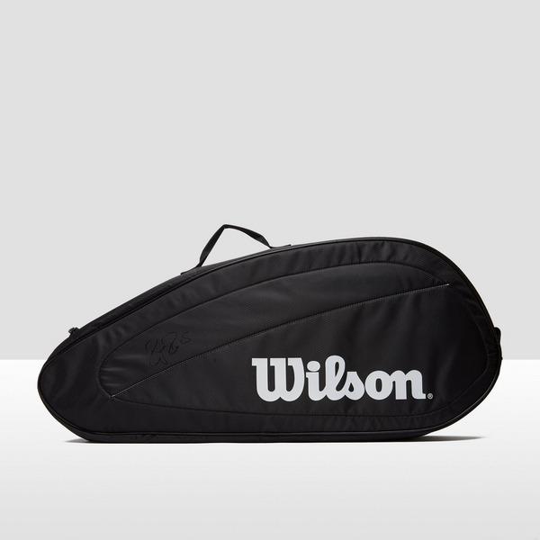 WILSON FEDERER TEAM 3X TENNISTAS ZWART/WIT