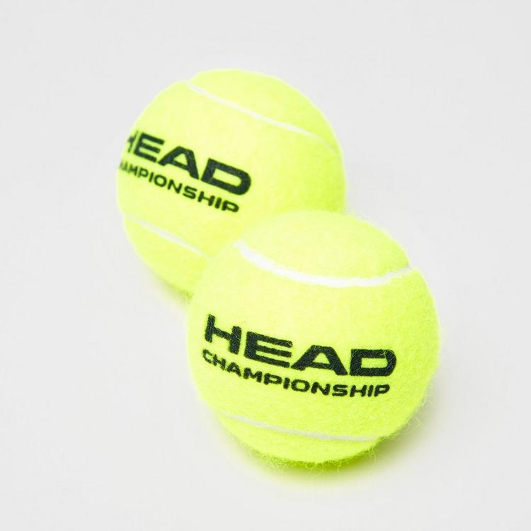 HEAD CHAMPIONSHIP TENNISBAL 2 X 4-PACK GEEL