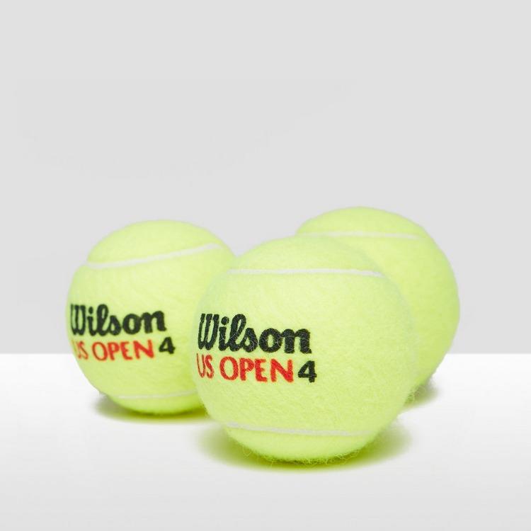 WILSON US OPEN TENNISBAL 3-PACK GEEL