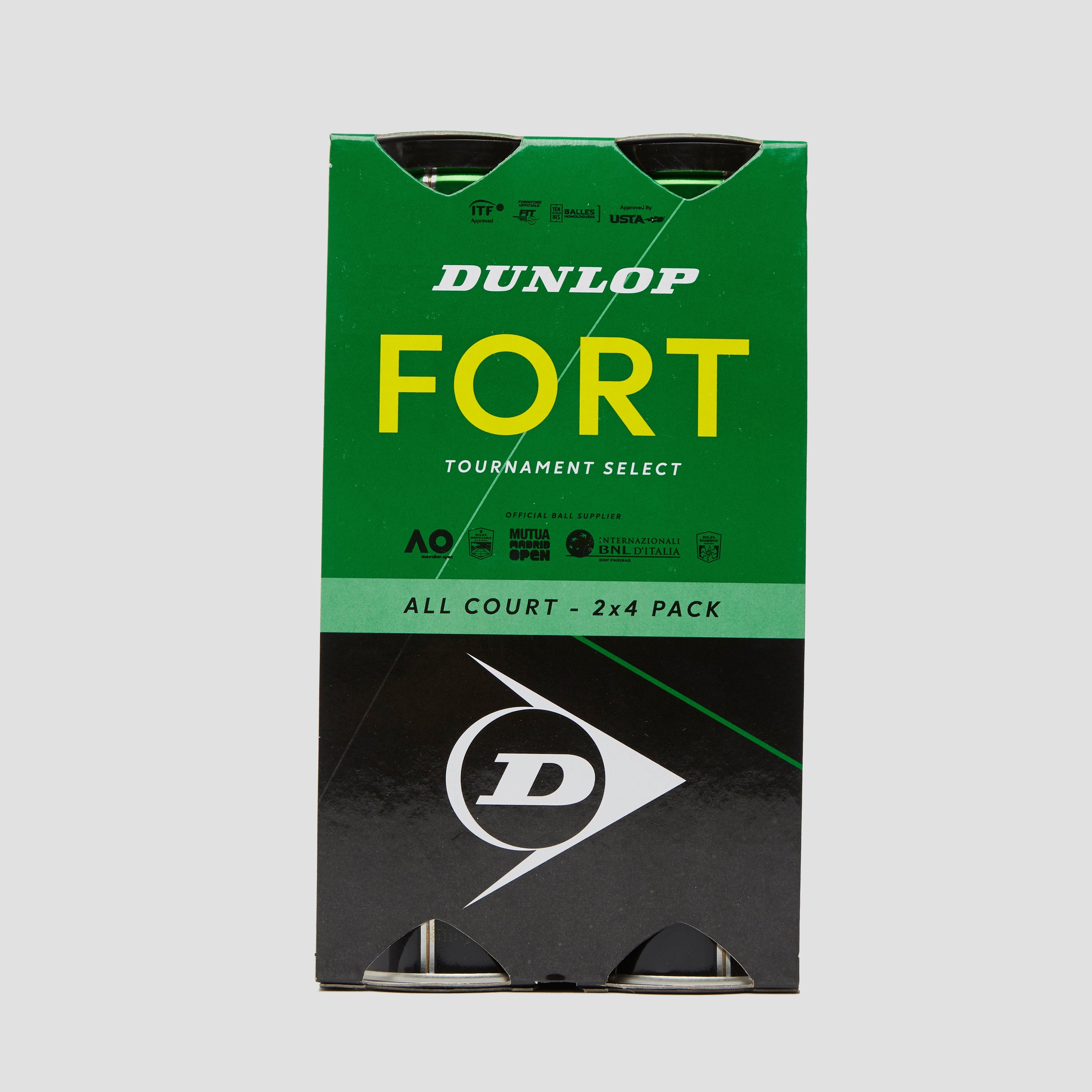 DUNLOP FORT All COURT 2X4 PACK TENNISBALLEN