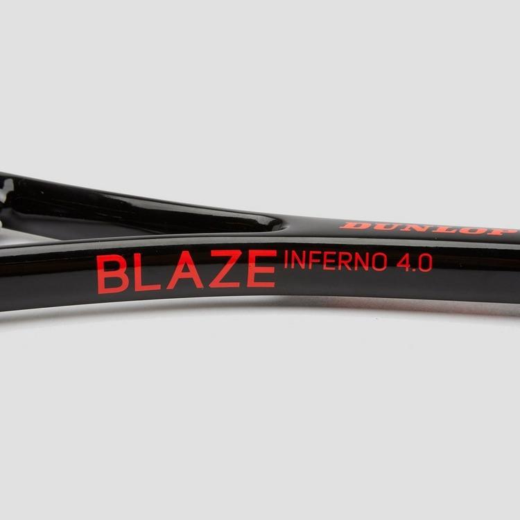 DUNLOP BLAZE INFERNO 4.0 SQUASHRACKET ROOD/WIT