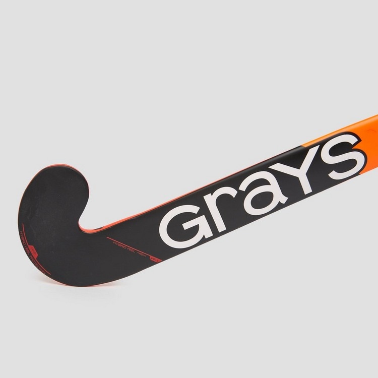 GRAYS 100i INDOOR ULTRABOW HOCKEYSTICK WIT/ORANJE KINDEREN