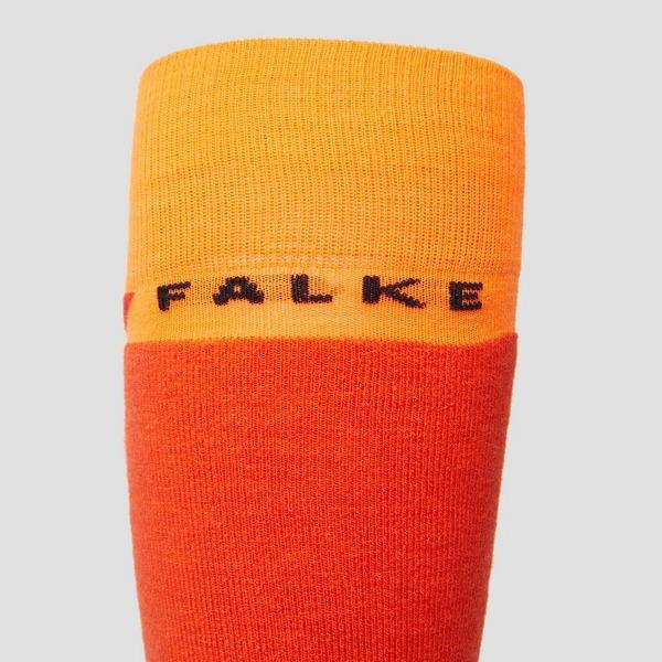 FALKE SK4 SKISOKKEN ORANJE/ROOD HEREN