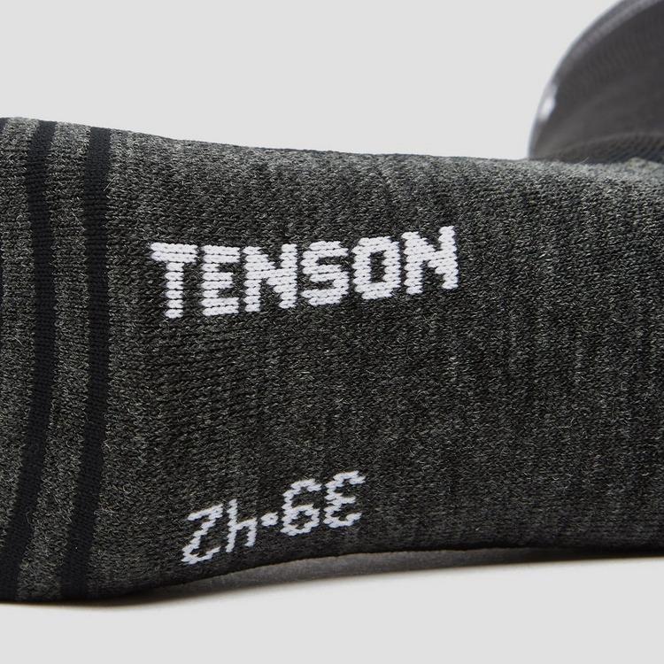 TENSON CORE PERFORMANCE SKISOKKEN 2-PACK ZWART/BLAUW HEREN