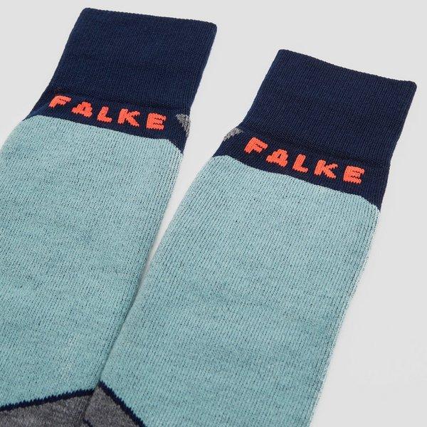 FALKE SK2 SKISOKKEN BLAUW/GRIJS DAMES