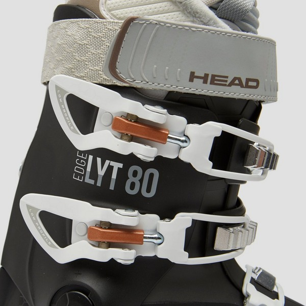 HEAD EDGE LYT 80 SKISCHOENEN ZWART/WIT DAMES