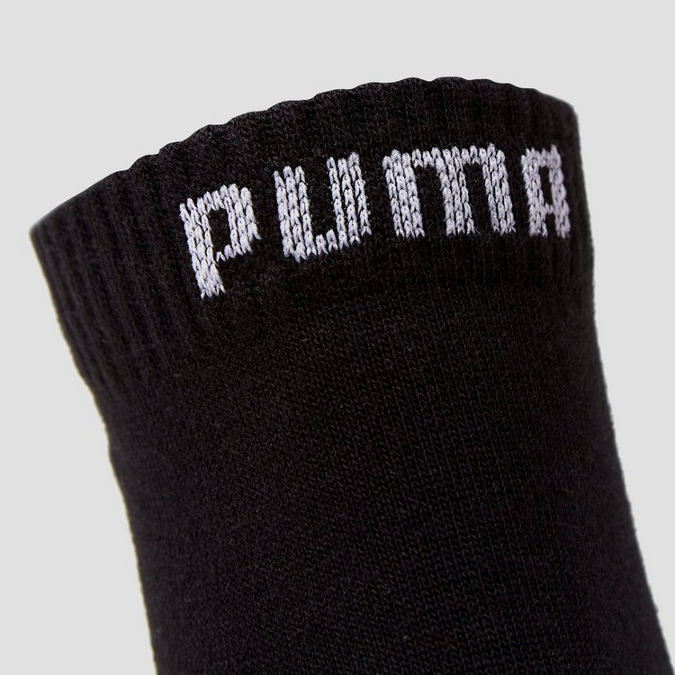 PUMA QUARTER SOKKEN 3-PACK ZWART