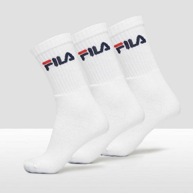 FILA CREW SOKKEN 3-PACK WIT HEREN