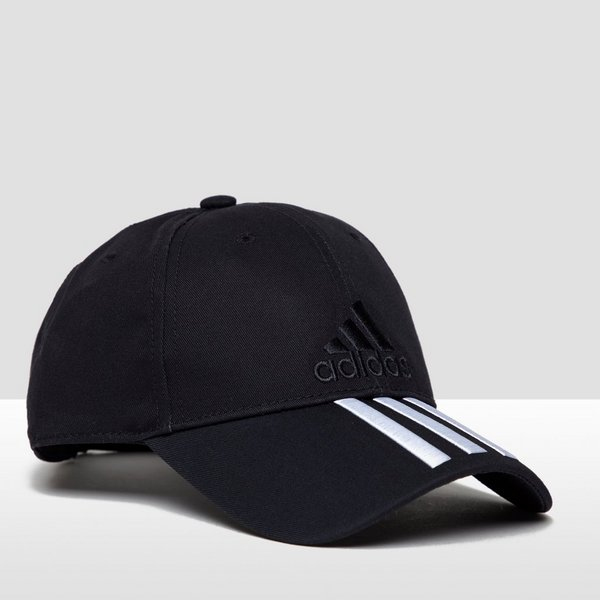 15d58a25f4618 ADIDAS SIX-PANEL CLASSIC 3-STRIPES PET ZWART