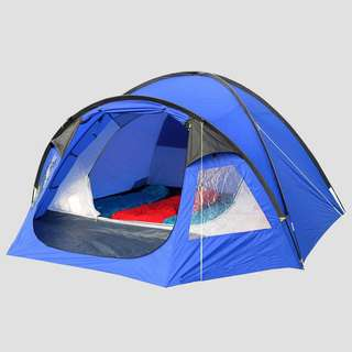 EUROHIKE CAIRNS DELUXE 4-PERSOONS TENT BLAUW