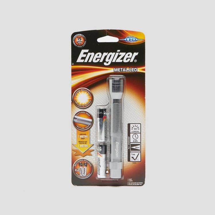 ENERGIZER METAL LED 2xAA ZAKLAMP ZILVER