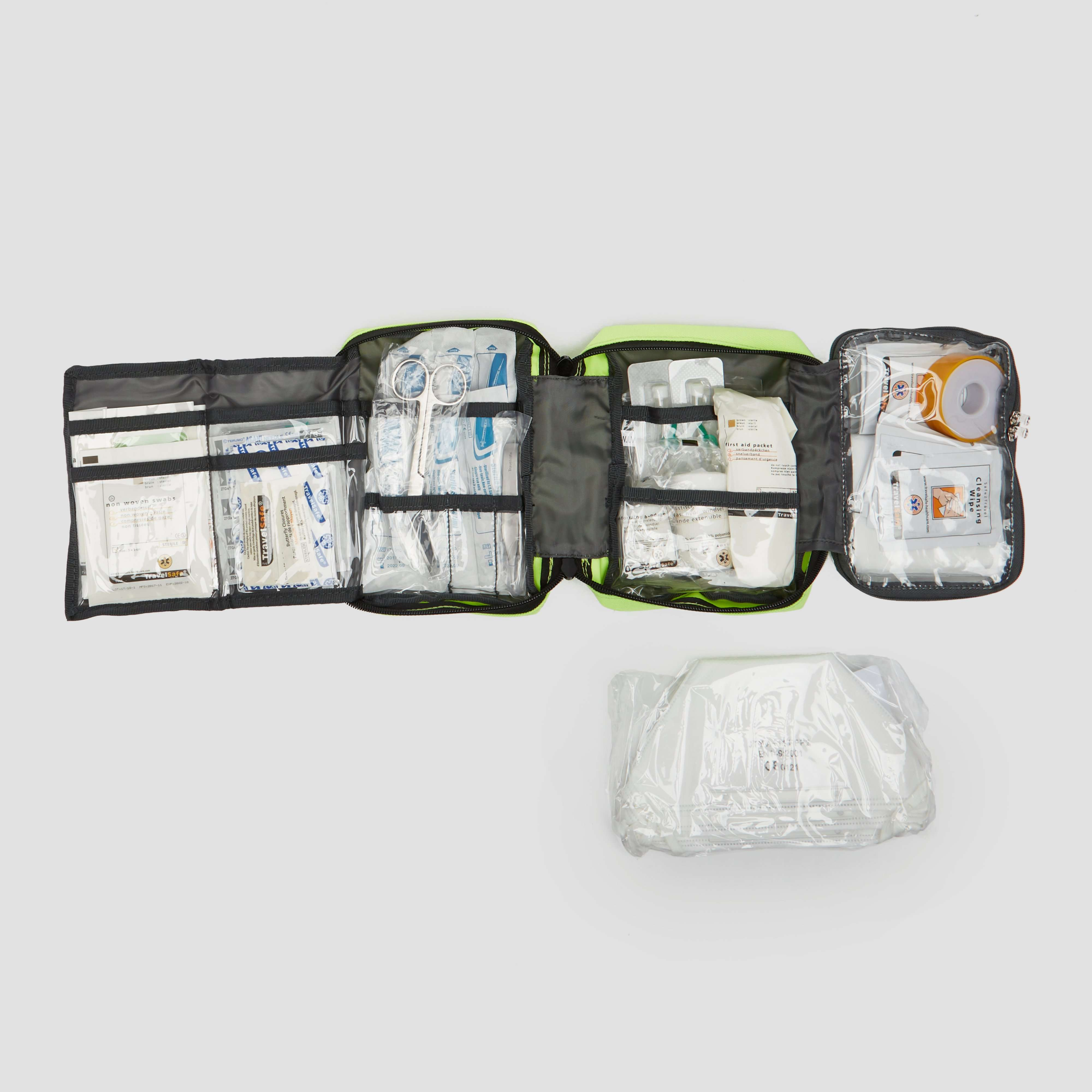 TRAVELSAFE GLOBE EMERGENCY EHBO KIT GEEL
